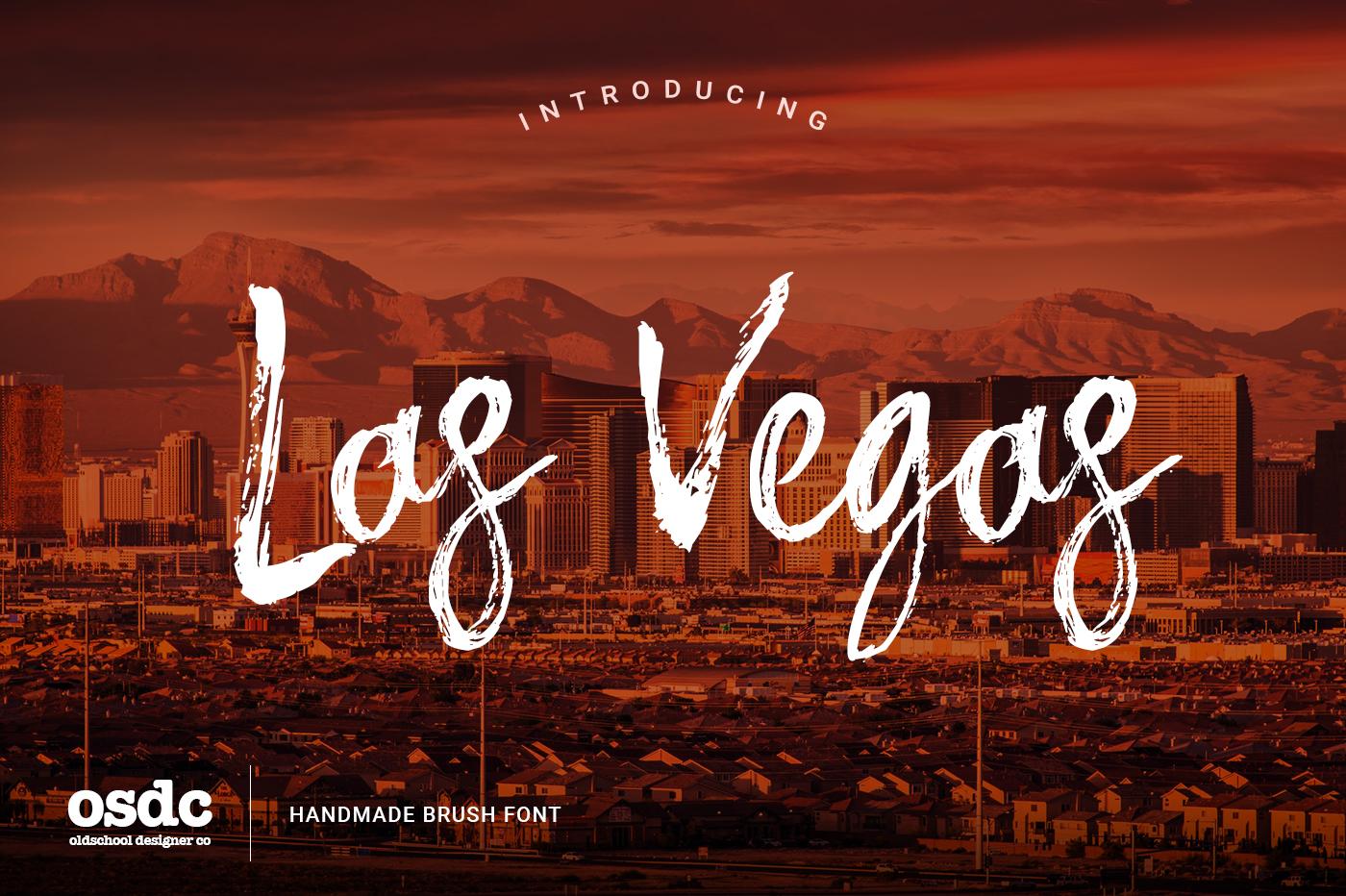 Las Vegas Brush Font example image 1