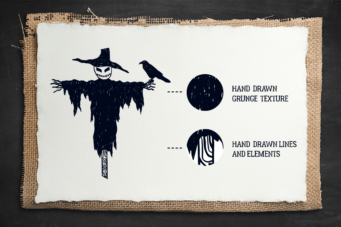 Halloween. 50 Hand Drawn Objects example image 2