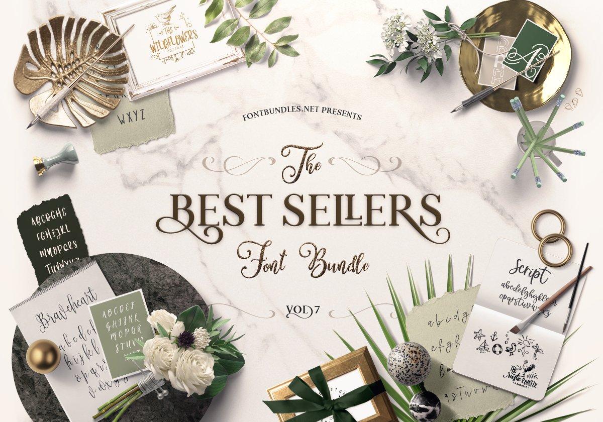 Best Sellers Font Bundle 7 Cover
