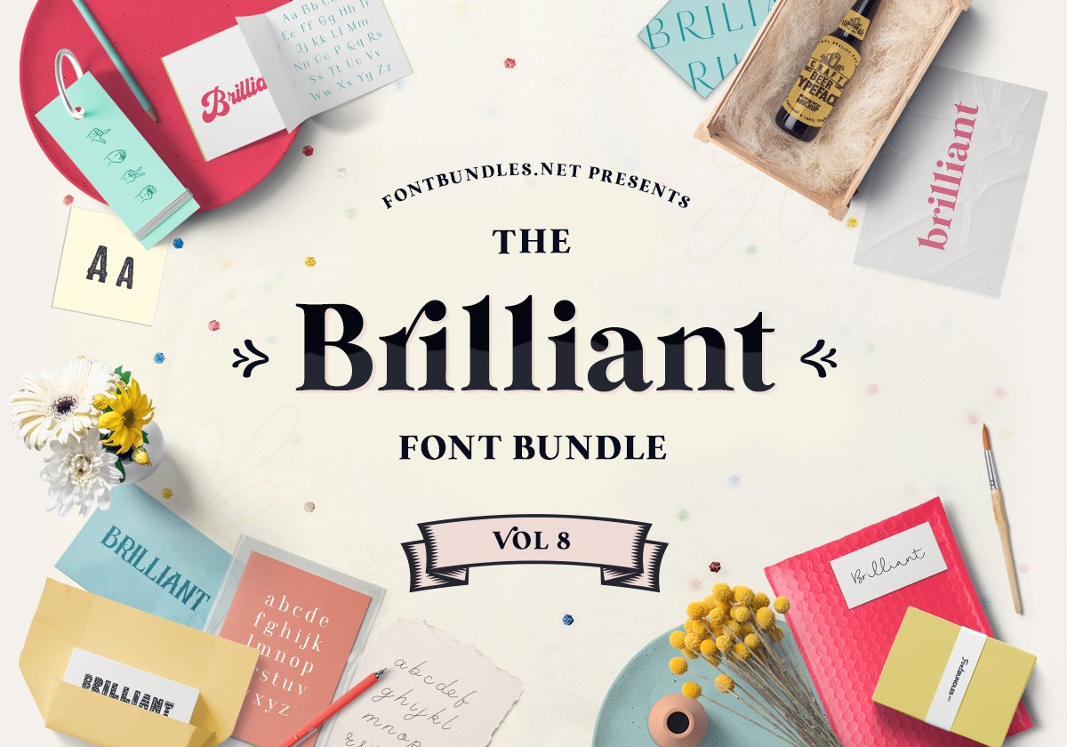 The Brilliant Font Bundle Volume 8 Cover