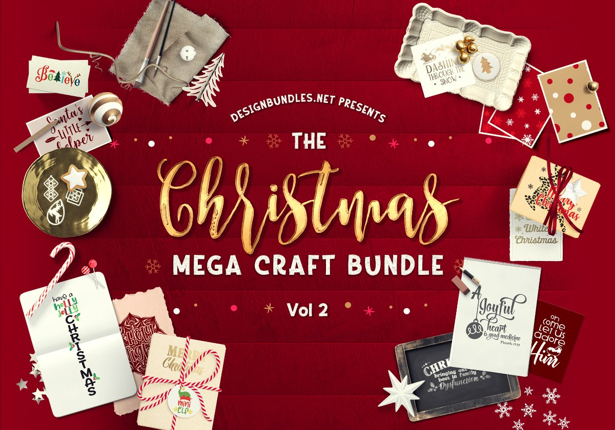 The Christmas Mega Craft Bundle 2 Cover