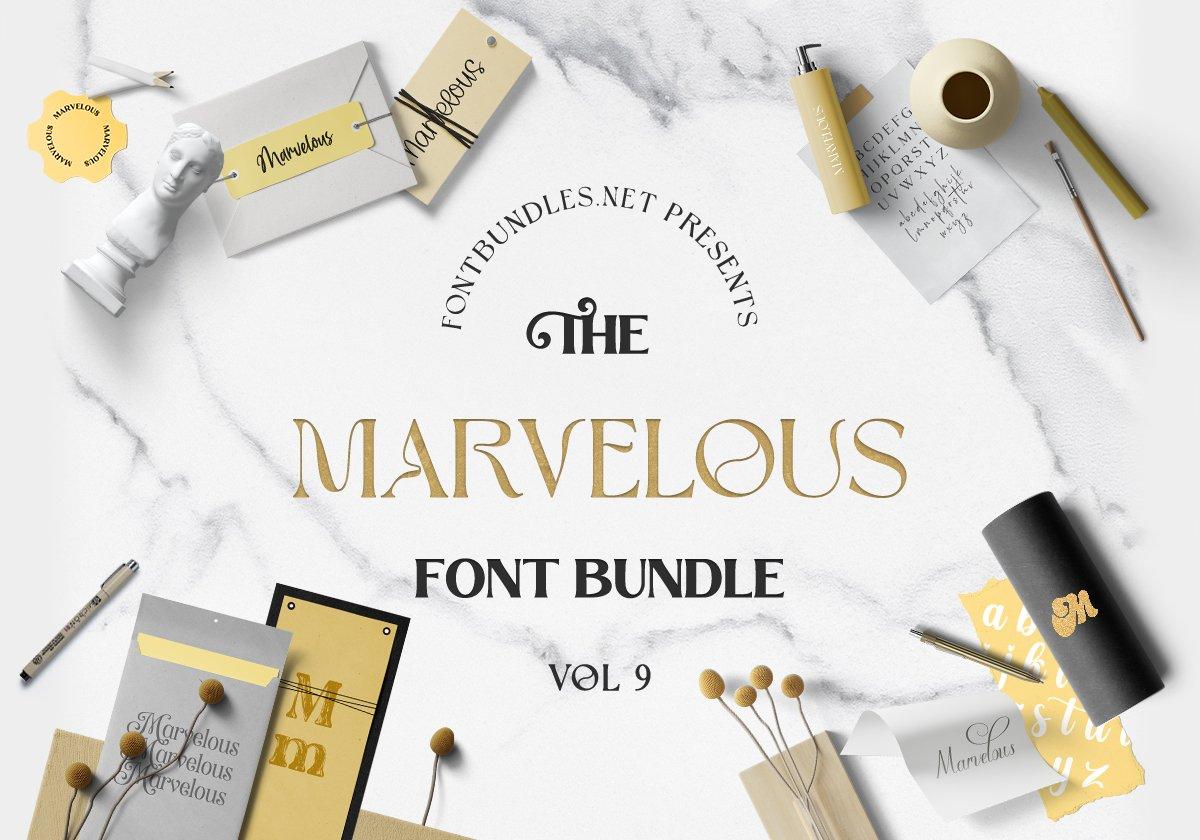 The Marvelous Font Bundle 9 Cover