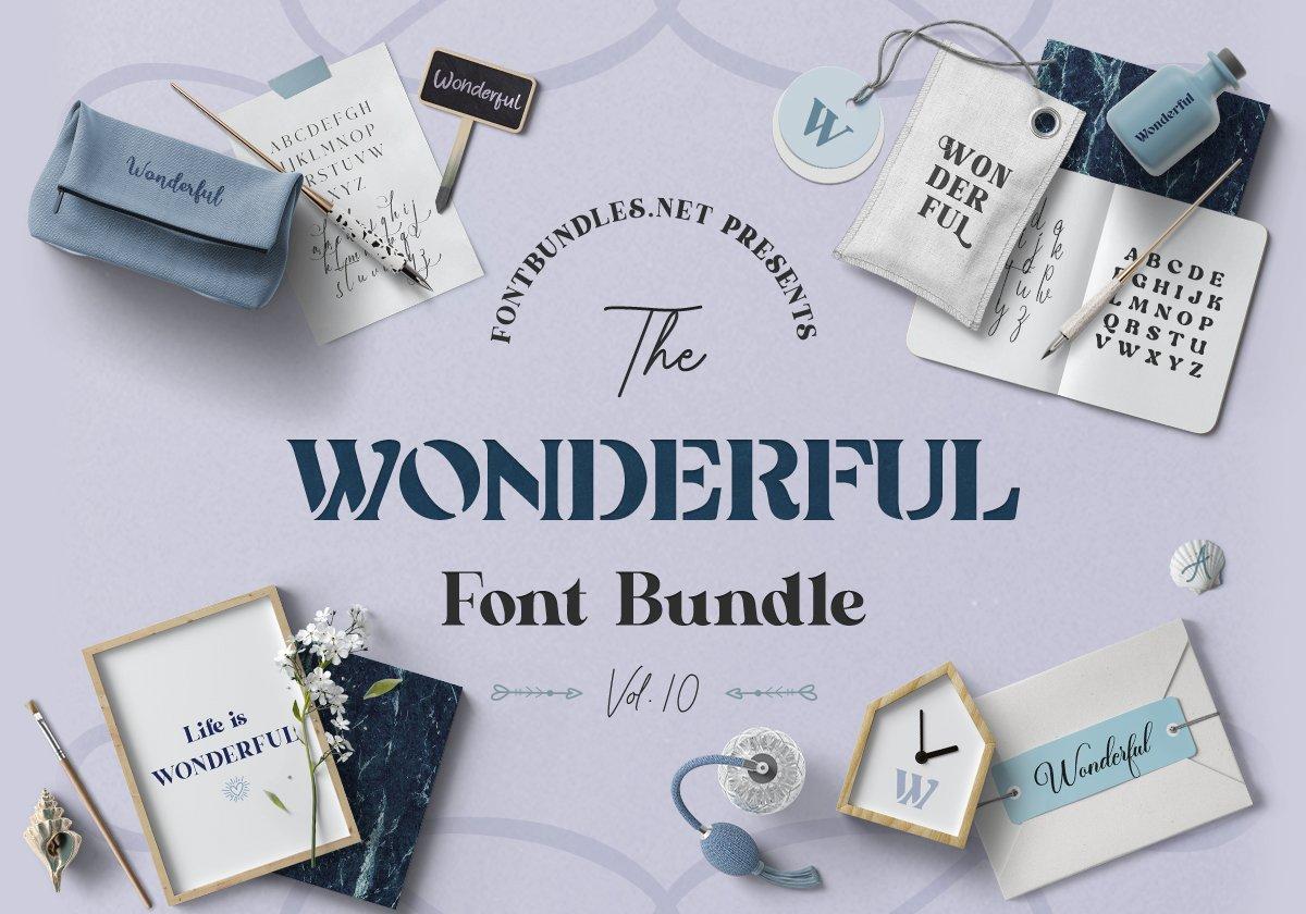 The Wonderful Font Bundle 10 Cover