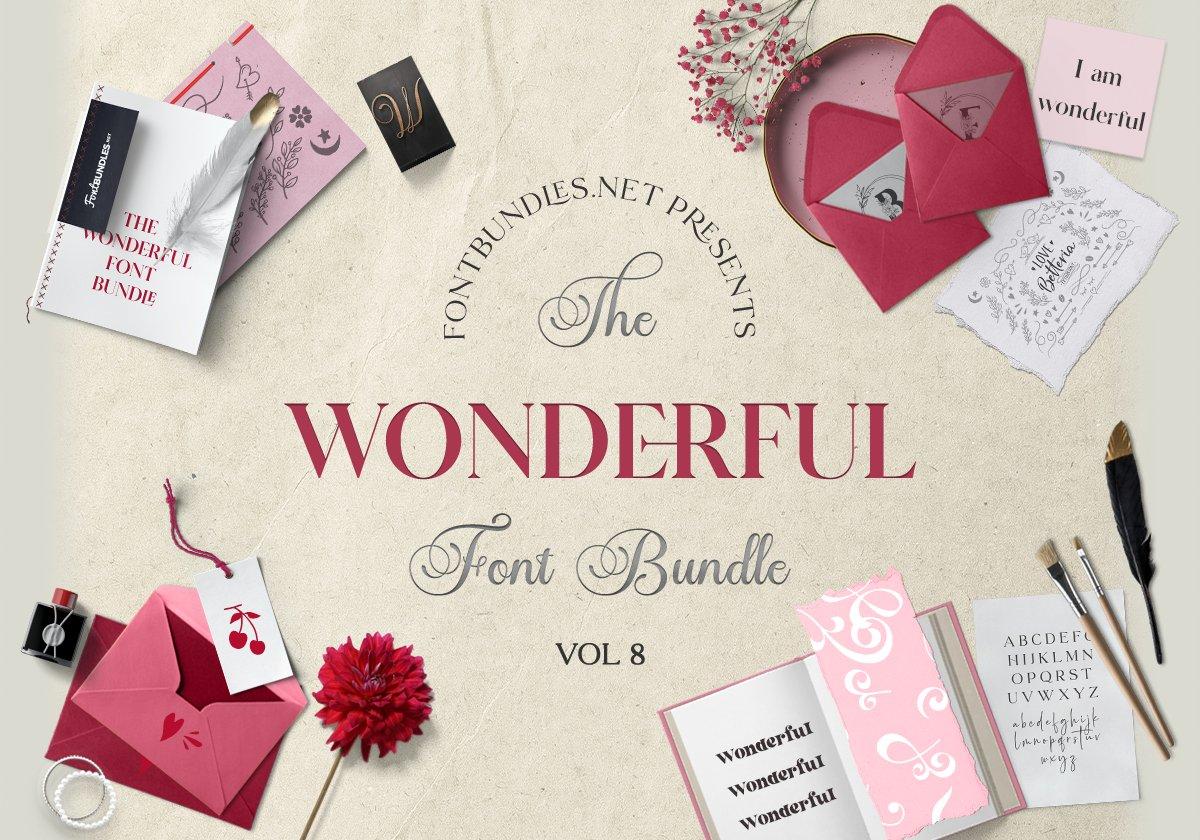 The Wonderful Font Bundle Cover