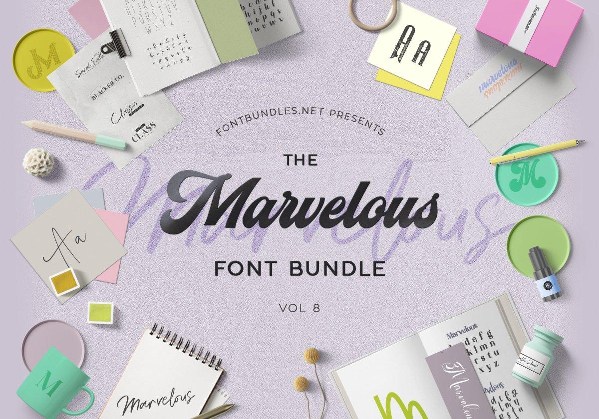 The Marvelous Font Bundle 8 Cover