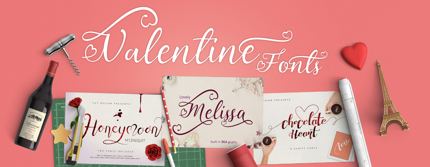 Love is in the air valentines fonts