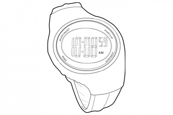 Sports Watch Line Drawing example image 1