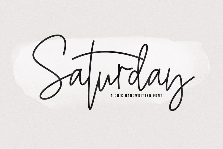 Saturday - Signature Script Font example image 1