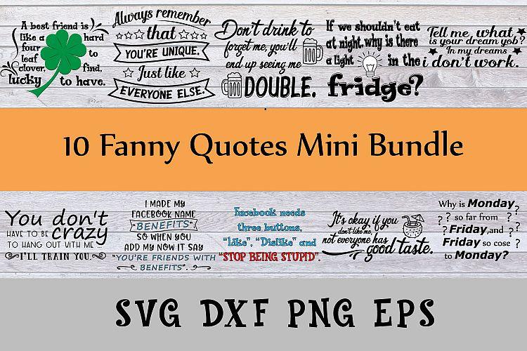 Fanny quotes mini bundle Svg Dxf Png Jpg Eps vector file Cut