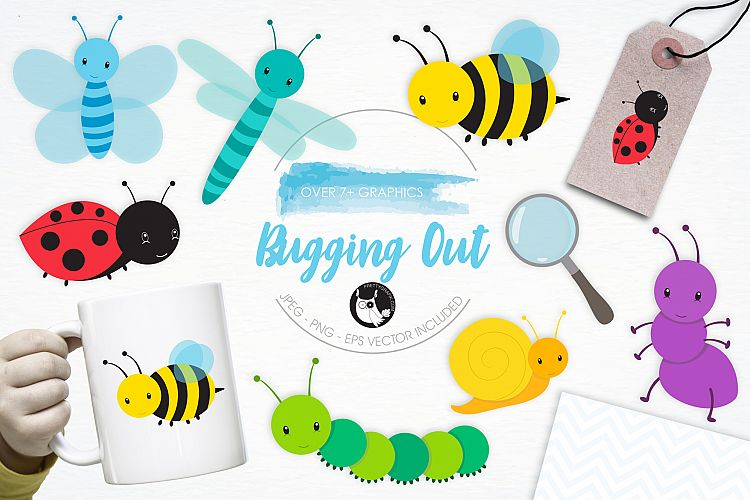 Bugging Out graphics and illustrations example image 1