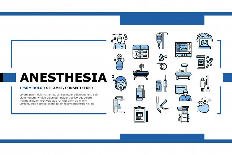 Anesthesiologist Tool Landing Header Vector example image 1