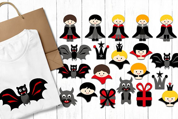 Vampire Boys - Halloween clip art illustrations