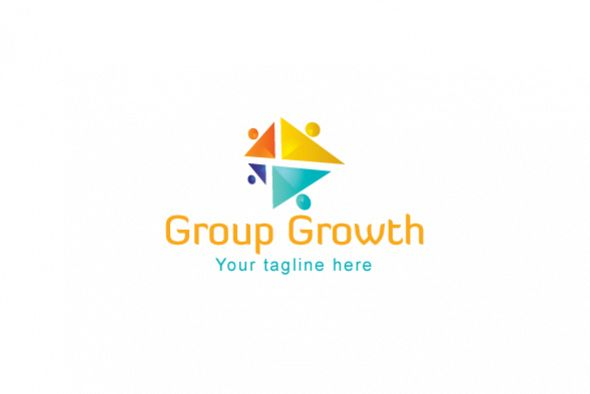Group Growth - Geometrical Stock Logo Template for Various example image 1