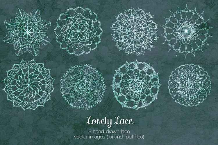 Lovely Lace Vector Illustrations example image 1