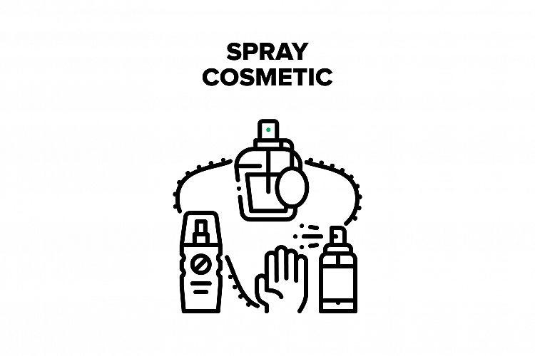 Spray Cosmetic Vector Black Illustration example image 1
