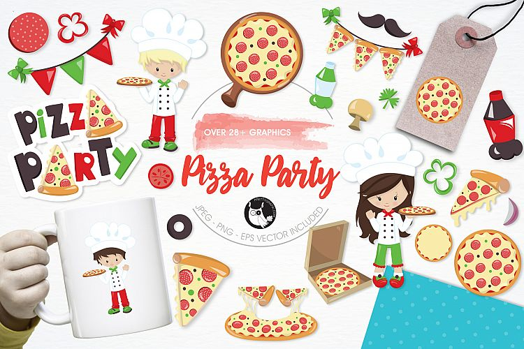 Pizza Party graphics and illustrations example image 1