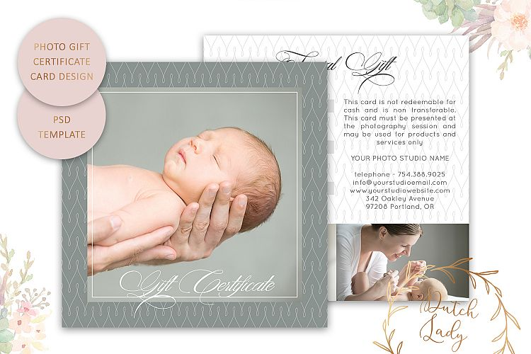 Photo Gift Card Template for Adobe Photoshop - #28 example image 1