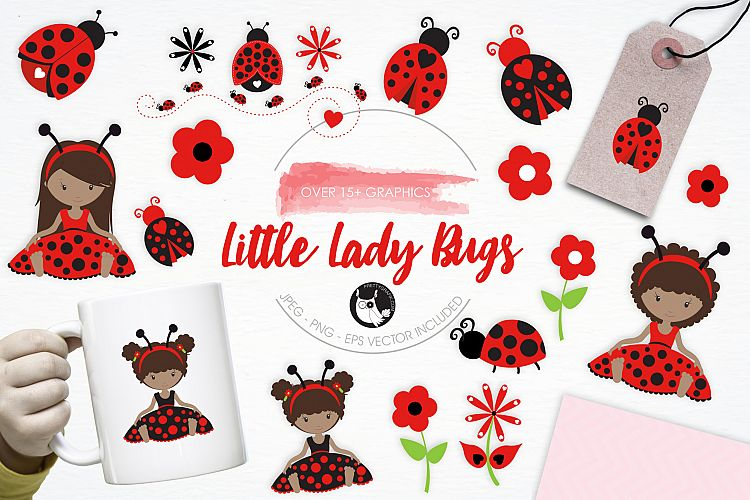 Little Lady Bugs graphics and illustrations example image 1