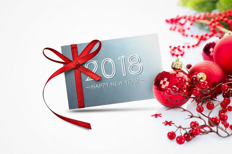 viewing product bundle of new year 2018 cardsbanner