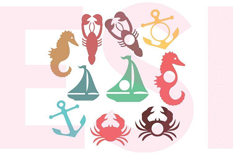 Nautical Silhouettes and Monogram Designs Set example image 1