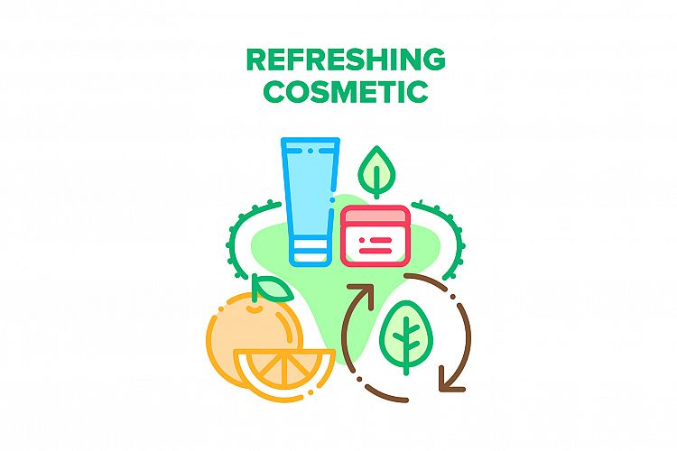 Refreshing Cosmetic Cream Vector Concept Color example image 1