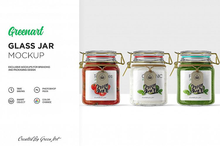 Clear Glass Jar Mockup example image 1