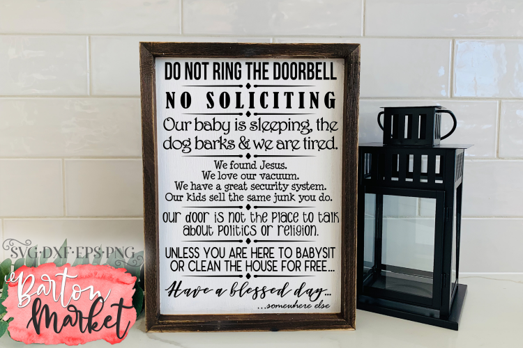 Do Not Ring The Doorbell for Crafters example image 1