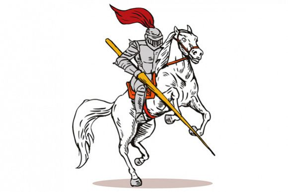 Knight on Horse with Sword example image 1