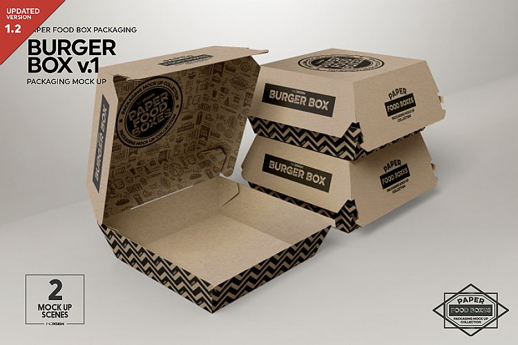 burger box packaging mock up v1 by incd design bundles