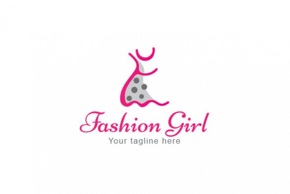 Fashion Girl - Creative Trendy Frock Abstract Graphic example image 1