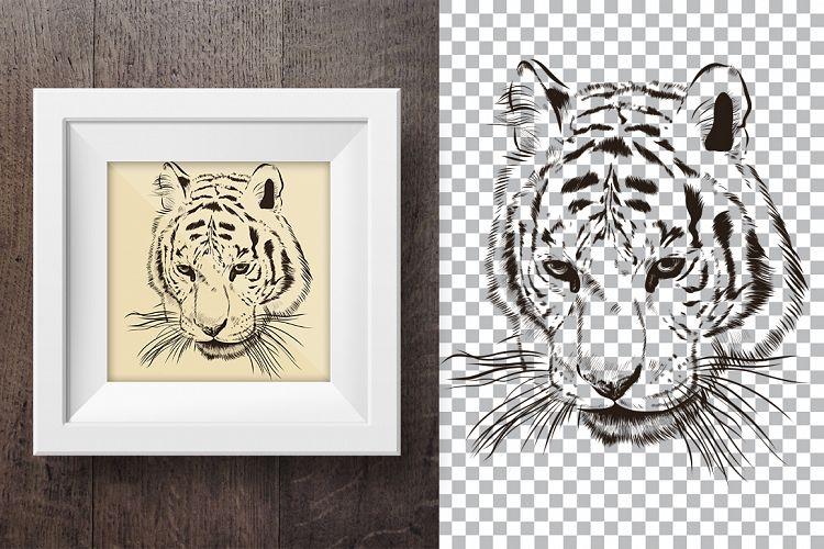 Tiger hand drawn print  example image 1