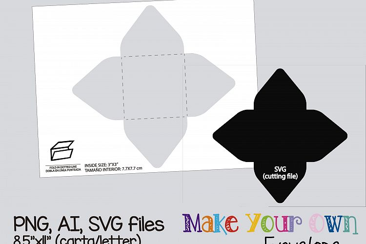 Envelope Template, collage sheet template, digital template, collage  template, printable template, collage digital, PNG, AI, SVG
