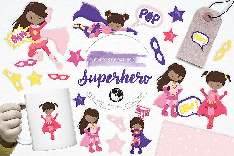 Superhero graphics and illustrations example image 1