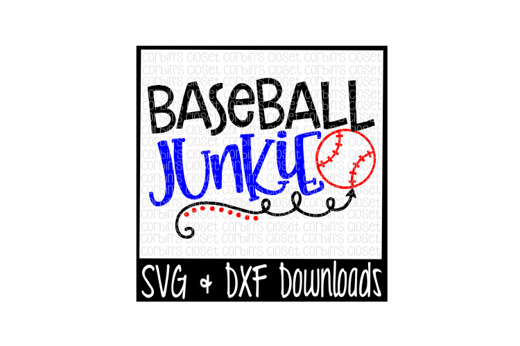 Baseball SVG * Baseball Junkie Cut File example image 1