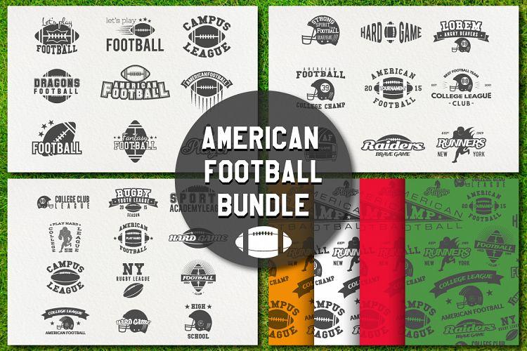 -70 American Football Labels Bundle example image 1