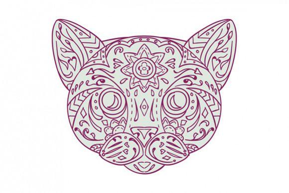 Cat Head Mandala example image 1