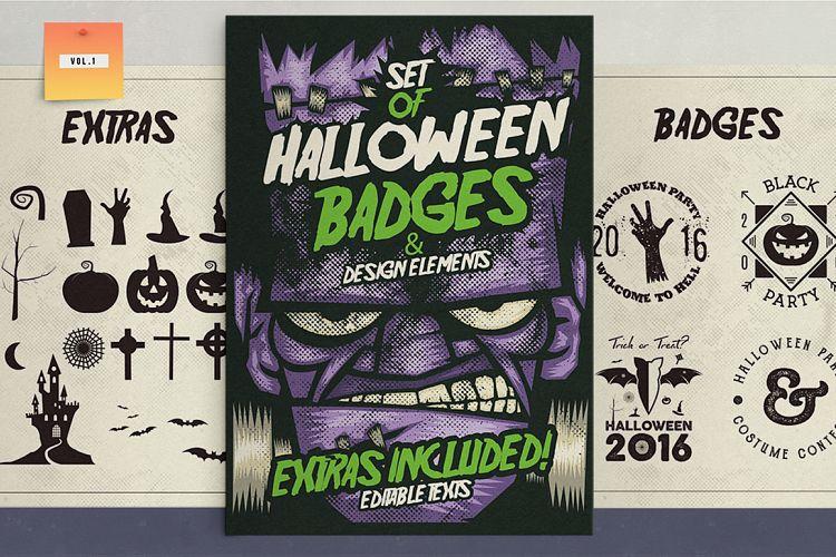 Halloween Badges & Extras Vol.1 example image 1