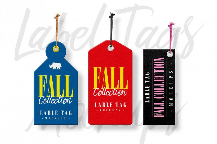 Label Tags Mockups example image 1