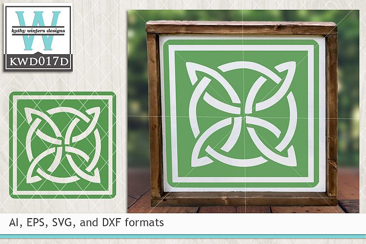 St. Patrick's SVG - Celtics Square example image 1