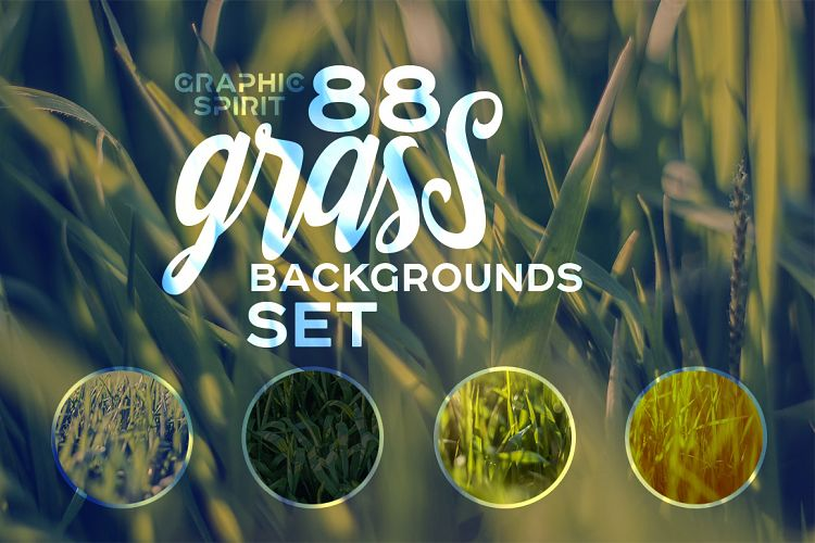 88 HD Grass Backgrounds Set example image 1