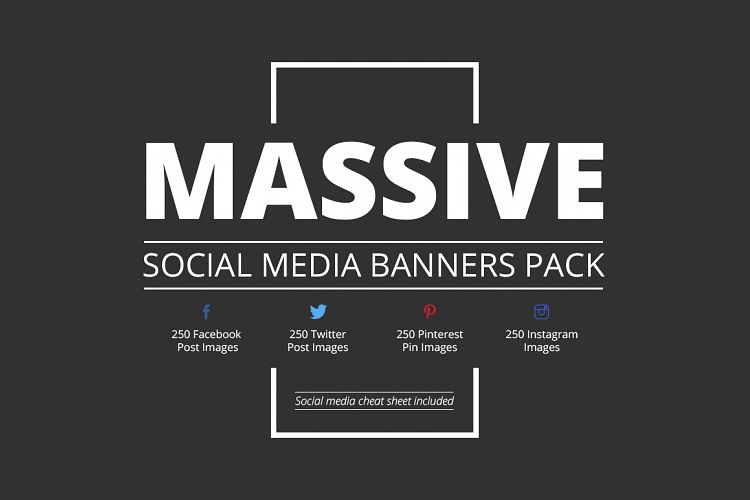 Massive Social Media Banners Pack example image 1