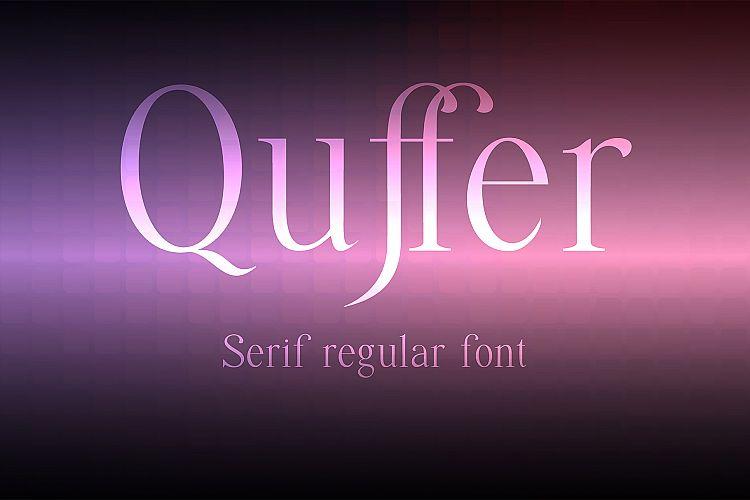 Quffer, serif regular font example image 1