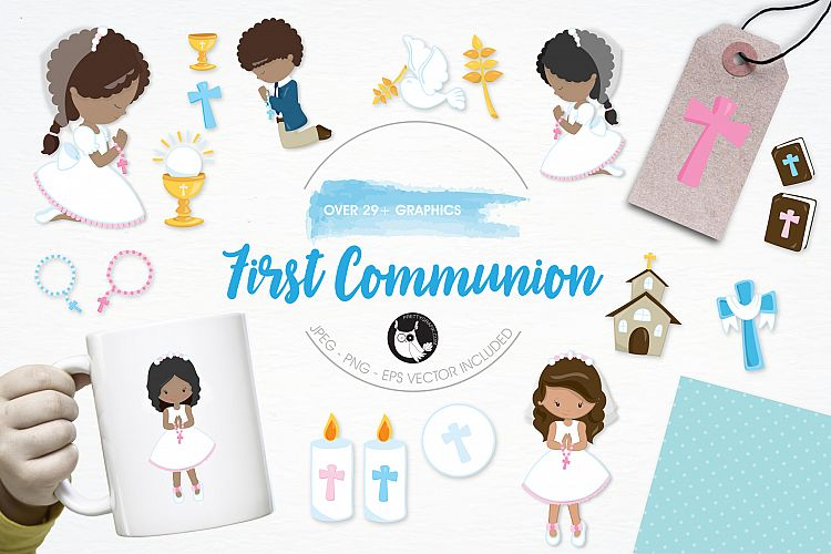 First Communion  graphics and illustrations example image 1