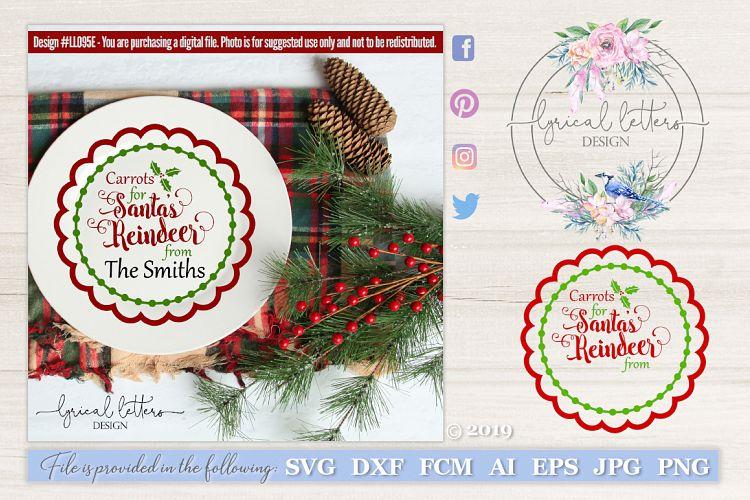 View Carrots For Santa's Reindeer Plate Design Svg Dxf Eps Ai Jpg Png Design