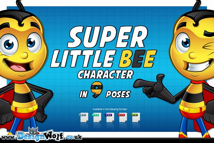 Super Little Bee - In 9 Poses example image 1