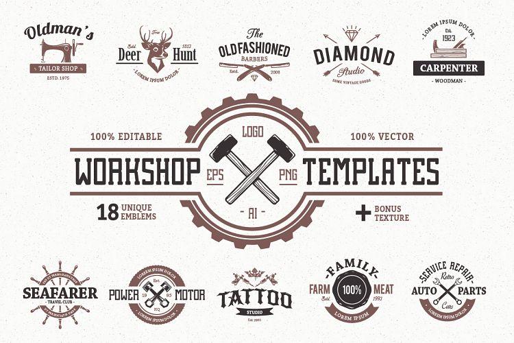 Workshop Logo Templates example image 1