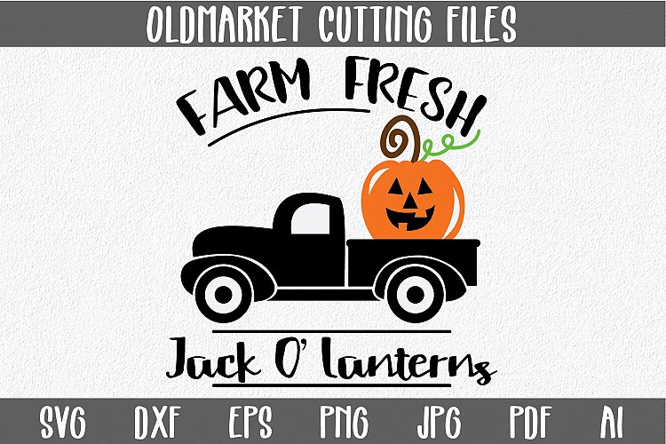 Farm Fresh Jack O\'Lanterns SVG Cut File - Halloween EPS DXF