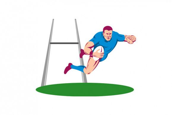 Rugby Player Diving Score example image 1