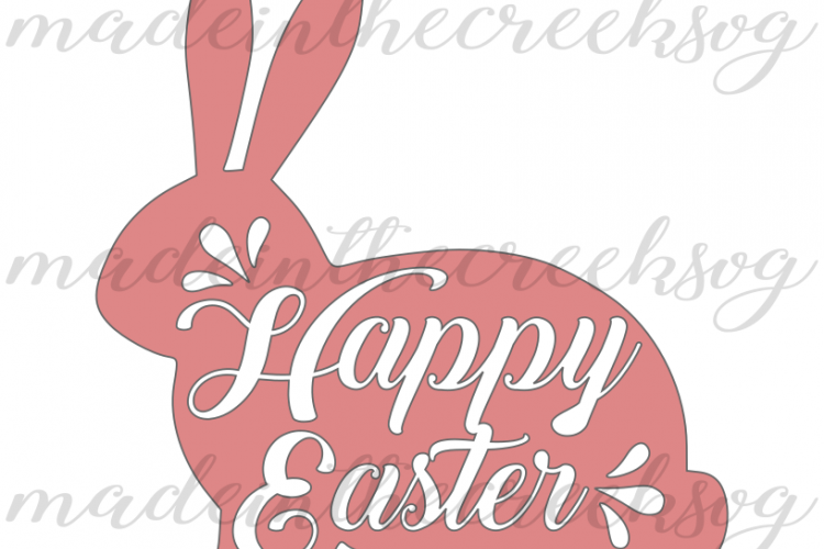 Download Happy Easter, Bunny, Pink, Cut File, SVG, PNG, PDF for ...