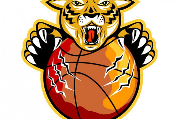 Tiger Basketball Ball Claws example image 1